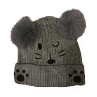 کلاه بافتنی بچگانه مدل گربه