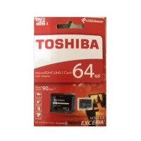 کارت حافظه microSDXC توشیبا مدل EXCERIA M302-EA کلاس 10 استاندارد UHS-I U1 سرعت 90MBps ظرفیت 64 گیگابایت به همراه آداپتور SD