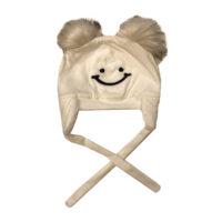 کلاه بند دار نوزادی مدل خنده